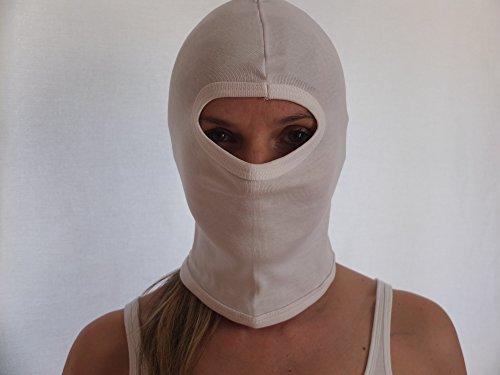 Commando Industries Balaclava « SWAT » Masque Cagoule De La Tempête Masque de Moto 1 Trou Couleur Noire ou Blanc - Blanc