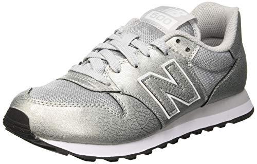 New Balance Damen 500 Sneaker, Silber (Silver/Silver Metallic Mss), 41 EU