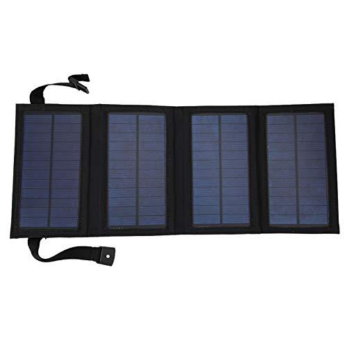 Panel solar plegable de 10 W, kit de cargador de batería portátil, con puertos USB de 5 V, cargador de batería solar de cristal único, fácil de transportar, para la alimentación del teléfono móvil, pa