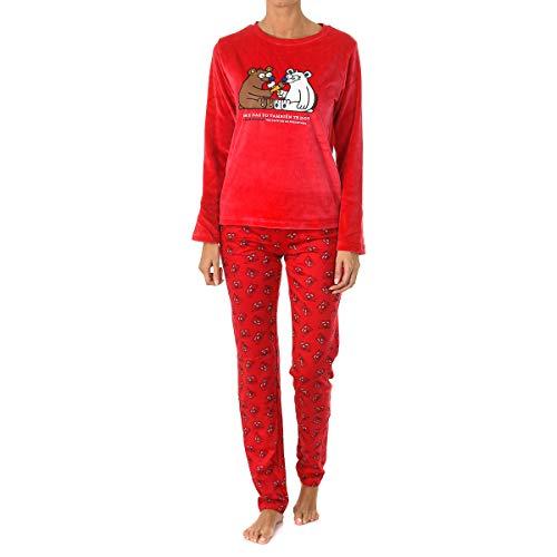 Kukuxumusu - Pijama Mujer ICESOSO Mujer Color: Cereza Talla