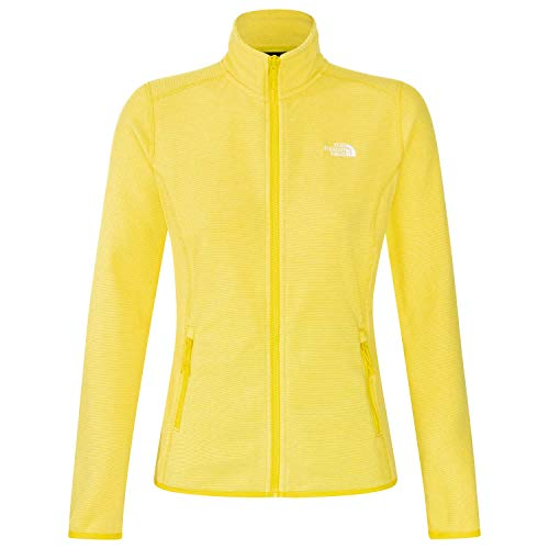 The North Face, W 100 Glacier FZ, Damen-Jacke, Gelb Large