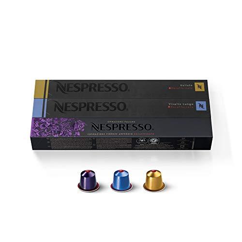 Nespresso Kapseln Decaffeinato Mix - Vivalto Arpeggio Volluto - 3er Pack, 30 Kapseln - Entkoffeinierte Sorten