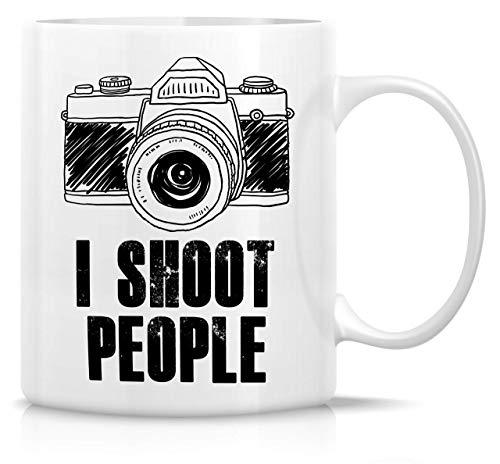 I Shoot People, Camera Photographer tazas de café de cerámica de 308 ml, divertidas, sarcasmo, sarcástico, motivacional, regalos de cumpleaños