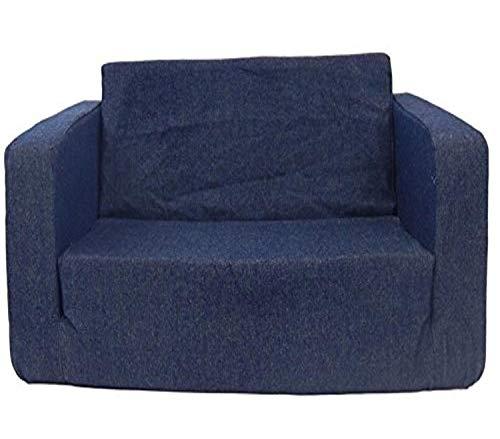 Fun Furnishings Toddler Flip Sofa, Denim