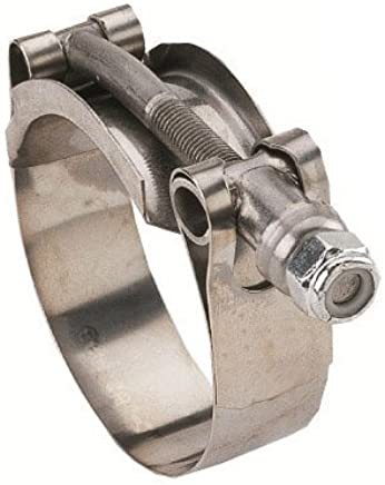 1-1//32 to 1-3//32 Carbon Steel Bolt and Nut 304 Stainless Steel Band Kuriyama TBC-SSC091 Heavy Duty T-Bolt Clamp