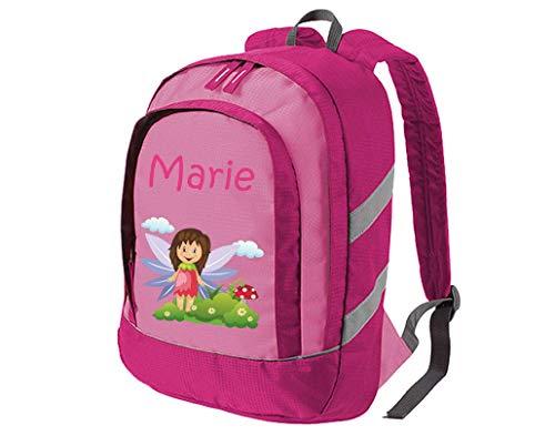 Mein Zwergenland Kindergartenrucksack Bicolor mit Name Mädchen, 6L, Pink