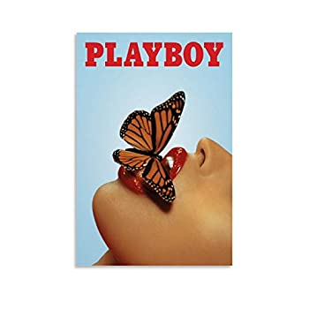 Playboy Posters Canvas Art Poster and Wall Art Picture Print Modern Family bedroom Decor Posters 08x12inch 20x30cm