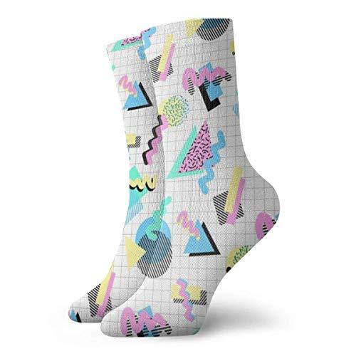 Jhonangel Formas Gráficos Rayas coloridas Geométricas antideslizantes Vestido antideslizante Calcetines para hombres y mujeres 30cm (11.8inches)