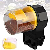 EFGS Ajustable Plástico Dispensador Comida Tortugas, Silencio Dosificador Comida Peces Acuario con 2 Caja de Cebo, Velcro, Comedero Automatico para Peces de Acuario, 50g/ 100g