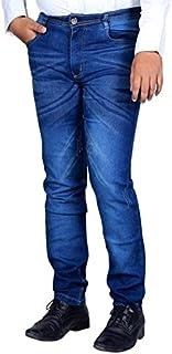 L,Zard Fashionable Slim Fit Stretchable Blue Jeans for Men's Stylish Jeans for Men,Blue Jeans for Men,Men's Blue Jeans