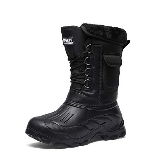 Invierno Botas de Trail Hombre Zapatos de Montaña Forro Piel Calientes Botas Militares Cordones Impermeables para Trekking Camping Aire Libre
