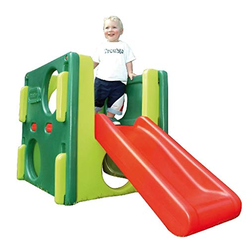 Little Tikes Junior Activity Gym - Klettern, Krabbeln und Rutschen - Aktives Spielen fördert die körperliche Entwicklung - Innen- oder Außenbereich - Evergreen