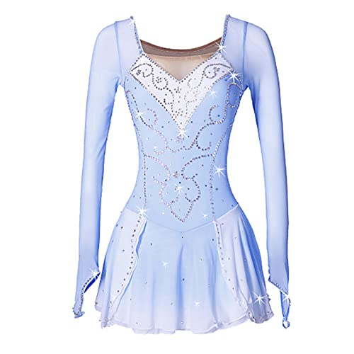 Q&M Vestido Lentejuelas de Danza Ballet para Nia Maillot de Patinaje Artistico Disfraz de Bailarina