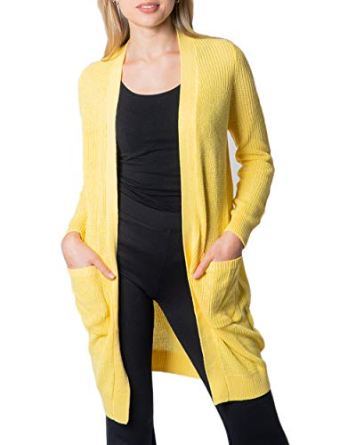 Noisy May Cardigan Donna Skylar l/s Knit Cardigan Rep 27008354 m Giallo