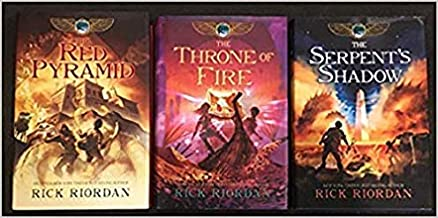 Kane Chronicles 3 Book Hardcover Set includes: The Throne of Fire, The Serpents Shadow, & The Red Pyramid