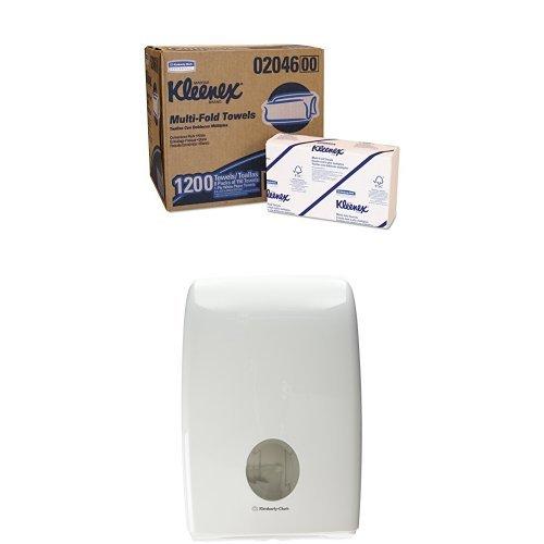 Kleenex 6772 Ultra Toallas para Manos Interplegadas, Tamaño Grande, Blanco Y Dispensador