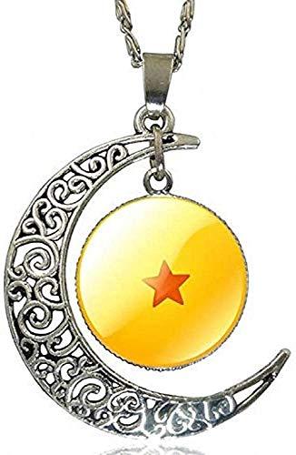 JSYHXYK Collar Collar Dragon Ball Collar Hecho A Mano con Forma De Luna Gargantilla Collar Joyas Diseños Múltiples