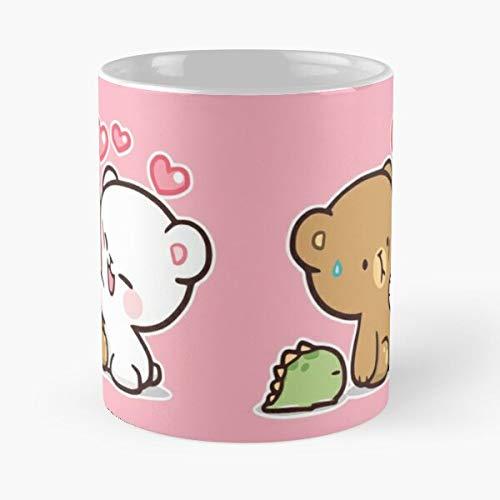 OriginalFavorites Milk Bear and Mocha Love Bears Cute Best 11 Ounce Ceramic Coffee Mug Gift