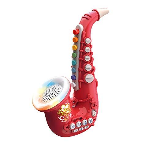 Saxofón para niños,Juguetes para niños, Tocar música, Iluminación, Saxofón de ocho tonos, Clarinete, Simula,otamatone (A)