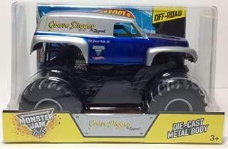 Grave Digger The Legend Hot Wheels Monster Jam Diecast 1:24 Truck 2014 Monster Truck Blue & Silver Off-Road