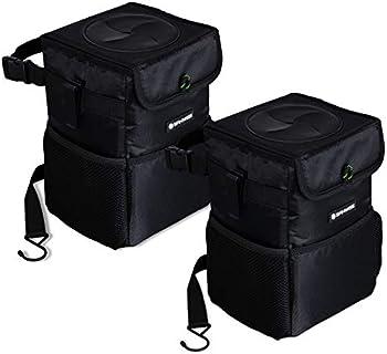 2-Pack SANIWISE Car Trash Can Foldable Hanging Car Trash Bag