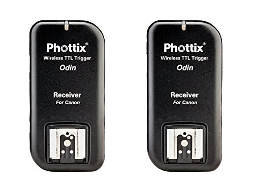 Phottix PH89062 Odin TTL Blitzauslöser mit Zwei Empfänger für Canon V1.5
