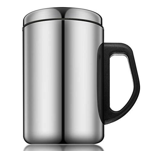 350 ml / 500 ml Tazas de Acero Inoxidable de la Cerveza de Vino Whisky con Aislamiento Tazas de té de Viaje de Viaje al Aire Libre con Tapa para Beber Taza de café,500ml