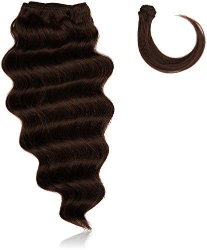 chear italien Body Wave Extensions capillaires Cheveux Humains avec extension de mélange tissage, numéro 2, marron foncé, 35 cm