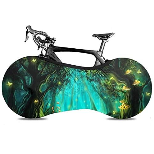 DIEFMJ Cubierta de Rueda de Bicicleta Fantasy Fairy Forest - Bolsa de Almacenamiento Interior para Bicicleta a Prueba de rayones, Lavable Paquete de Llantas de Alta Elasticidad Road MTB Protective GE