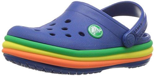 Crocs CB Rainbow Band Clog K, Sabots Mixte Enfant, Bleu (Blue Jeans 4gx), 32/33 EU