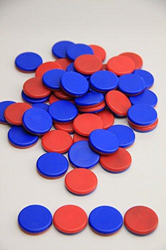 SpielundLern.de Wendeplättchen, 50 Stück aus RE-Plastic - Schulqualität - Made in Germany im Polybeutel