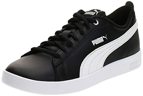 PUMA Damen Smash WNS v2 L Zapatillas, Schwarz Black White, 38 EU