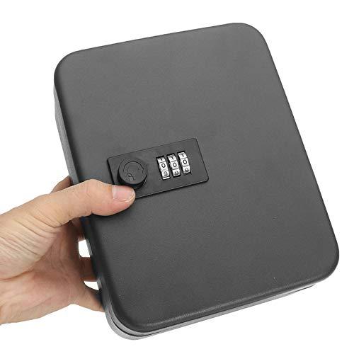 Secure Home - Caja de seguridad con combinación de cerradura de metal para llaves, montaje en pared, con cerradura para guardar joyas, tarjetas, llaves, etc.