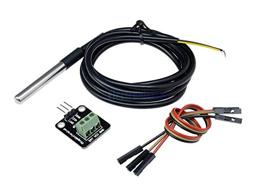 DS18B20 Temperature Sensor Module Kit with Waterproof Stainless Steel Probe for Raspberry Pi