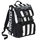 Zaino Estensibile Big Juventus Coaches, 28 Lt, Bianco/Nero, 41 cm...