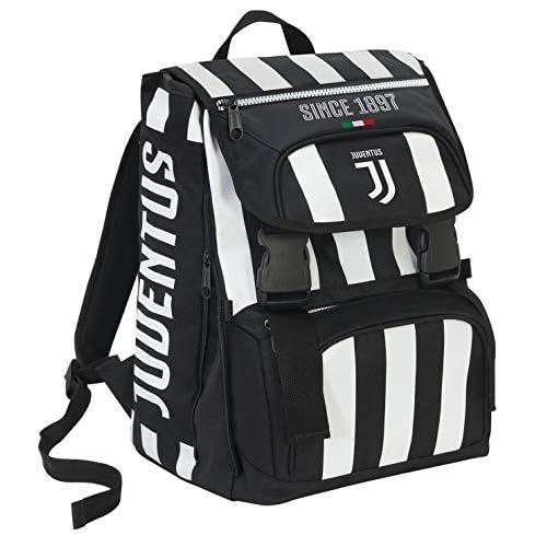 Zaino Estensibile Big Juventus Coaches, 28 Lt, Bianco/Nero, 41 cm
