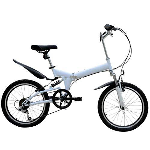 SHUANGA 20 Zoll leichtes Mini Faltrad Kleines tragbares Fahrrad Erwachsener StudentFaltbares Mountainbike 20 Zoll Fahrrad für Erwachsene mit variabler Geschwindigkeit