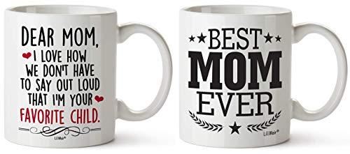 Moederdag Cadeaus Pakket van 2 Moeder Grappige Verjaardag Koffie Cup Mokken van Dochter Zoon Moederdag Mok Aanwezig in de wet Stap Moeders Grootste Unieke Sarcastische presenteert Ideeën Stiefmoeder Tante Vrouw Thee Cups