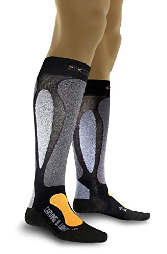 X-Socks Herren Socken CARVING ULTRALIGHT, Black/Orange, 39/41, X020022