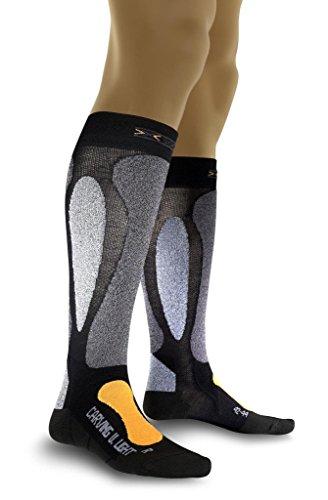 X-Socks Herren Socken CARVING ULTRALIGHT, Black/Orange, 39/41, X020022