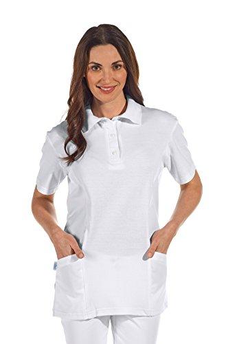 clinicfashion 12812010 Polo-Schlupfhemd weiß für Damen, Mischgewebe, Größe XXL