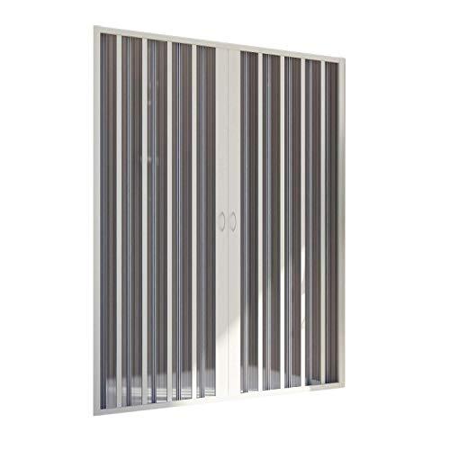 Forte Paroi Douche 100 CM H185 en Plastique PVC modèle Aura avec l'Ouverture Centrale