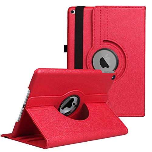 iPad 9.7 Case,iPad 5th/6th Generation Case - 360 Degree Rotating Stand Protective Cover with Star Case with Auto Sleep/Wake for Apple iPad 9.7' 2018 2017 / iPad Air 2 / iPad Air Case (Red)