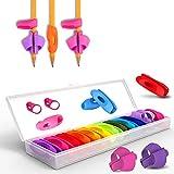 Pencil Grip, Corrector escritura niños Soporte boligrafo y Agarre Lapiz ergonómico para escritura correctamente para niños 12 piezas/juego