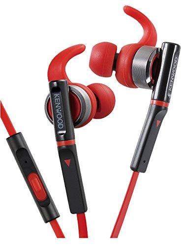 Kenwood KH-SR800-R-E In-Ear-Sportkopfhörer Silber/rot