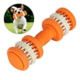 Laicve Dog Chew Toy,Silicone Dumbbell Dog,Molar Stick Effective Cleaning Teeth Pet Interactive Training Toys,Suitable for Dogs and Cats to Play,S