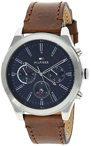 Tommy Hilfiger Men's Analogue Quartz Watch with Leather Strap 1791741