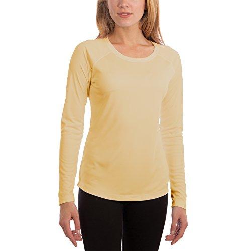 Vapor Apparel Damen Atmungsaktives UPF 50+ UV Sonnenschutz Langarm Funktions T-Shirt XX-L Blassgelb