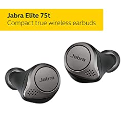 WIRELESS EARBUDS – The Jabra Elite 75t is engineered to fit. Making and taking calls is always a great experience, wherever you are, thanks to enhanced 4-microphone call technology which filters out wind and other disruptive noises around you. COMPAC...