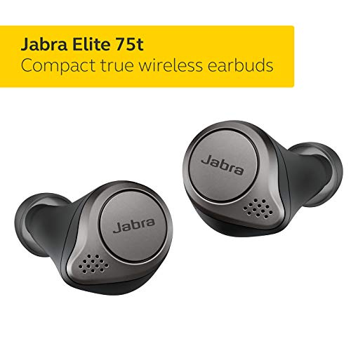 Jabra Elite 75t Earbuds – Alexa Enabled, True Wireless Earbuds with Charging Case, Titanium...